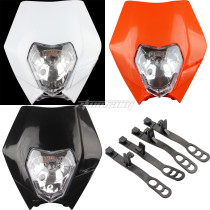12V 35W Light Headlights Headlamp For 50-300CC EXC EXCF XCF XCW SXF CRF SMR Enduro Pit Dirt Bike Motorcycle