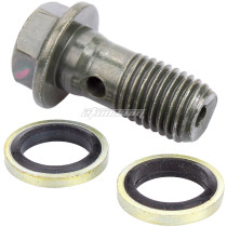 Drain Oil Cooler M10*1.0/1.25 Brake Tubing Screw For ATV GY6 Scooter Pit Dirt Bike Quad Buggy Motorcycle Parts