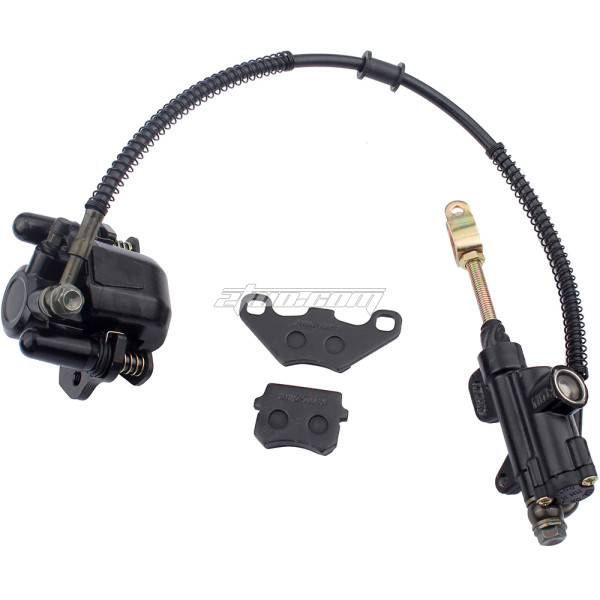 Rear Brake Master Cylinder Caliper Assembly With brake pad Replacement for for 50cc 70cc 90cc 110cc 125cc Chinese ATV Quad Taotao 4 Wheeler Motorcycle