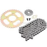 37 Teeth 420 Chain Rear Sprocket + 420 Chain 102 Link + 14 Tooth Front Engine Sprocket Parts for 50 70 90 110 125CC Pit Trail Quad Dirt Bike ATV Go Kart 4 wheeler