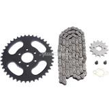 40 Teeth 428 Chain Rear Sprocket + 428 Chain 104 Link + 14 Tooth Front Engine Sprocket Parts for 125CC 150CC 250CC Pit Trail Quad Dirt Bike ATV Go Kart 4 wheeler