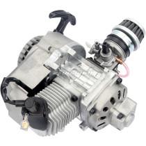 NEW 49cc 2 Stroke Engine Motor Carb Air Filter Pocket Carburetor For Mini Dirt Bike ATV Quad Moto - Silver