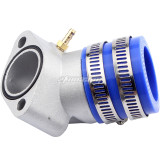 Performance Aluminum Racing Intake Manifold Replacement for GY6 150cc Scooter Moped ATV Go-Kart