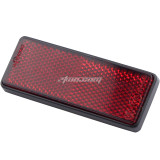 M5x0.8 Red Rectangle Universal Screw Mount Reflective Warning Reflector for Motorcycle Pit Bike ATV GY6 Scooter 56mm Length