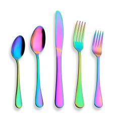 20-Piece Colorful Plated Flatware Set,Set Service For 4