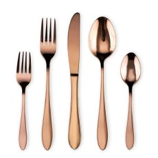 20 Piece Rose Gold Plated  Flatware Set Service for 4 (Shiny copper)