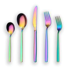 20-Piece Rainbow Plated Stainless Steel Flatware Set, Service for 4