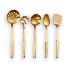 Copper Kitchen Tools Set (Matte Gold)