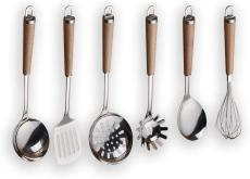 Berglander Stainless Steel Wooden Handle Kitchen Utensil Set