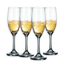 Berglander champagne Glasses 8 Ounce, Lead Free, Made of Premium Crystal Glass, Perfect for Parties, Wedding, Events, 240mL, Set of 4