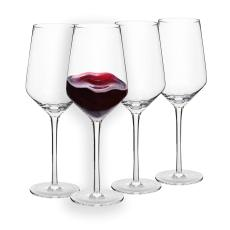 Berglander Red Wine Glasses 13 Ounce,Lead Free, Made of Premium Crystal Glass, Perfect for Parties, Wedding, Events, 390mL, Set of 4