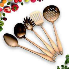 Rose Gold 5 Nonstick Cooking Utensils Set