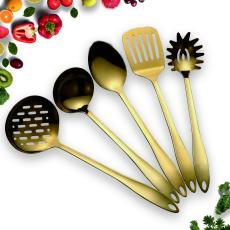 Gold 5  Nonstick Cooking Utensils Set
