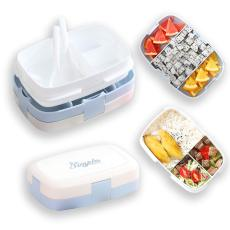 Berglander Bento Box, Lunch Box, Bento Box for Kids and Adults, Leakproof Food Container with 3 Compartments. (Blue)
