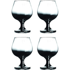 Berglander Crystal Brandy Glass 12-Ounce, 5.3 ,Craft Spirits Cognac Glasses,Whiskey Glass,Suitable for Spirits, Whiskey, Beer, Wine, Champagne,Set of 4 (Clear with Black Gradient)
