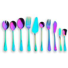 10 Pieces Colorful Plated Flatware Serving Set