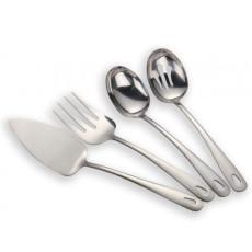 4 Pieces Shiny Silverware Serving  Set