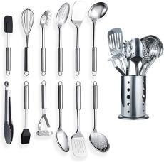 13 Pieces Stainless Steel Kitchen Utensil (with Holder)