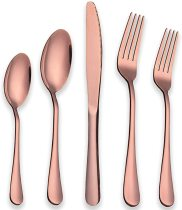 20-Piece Rose Gold Plated Stainless Steel Silverware Set , Service for 4