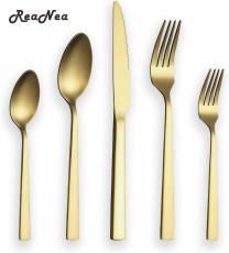 30-Piece Matt Gold cutlery set,  service for 6 people