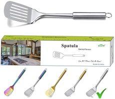 Slotted Turner, Metal Spatulas Turner For Cooking