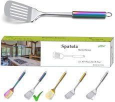 Colorful Handle Spatulas With Titanium Plating
