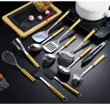 12 Pieces Stainless Steel Gold Handle Kitchen Utensil