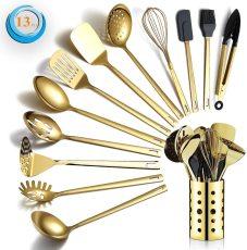 Berglander golden 13-piece kitchen utensil set Mirror polished style