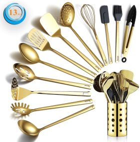 Berglander golden 13-piece kitchen utensil set Mirror polished style