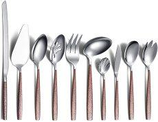 10 PCS Shiny Mouth Titanium Coating Modern Cutlery Serving Utensils