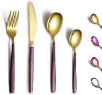 24 Pieces Shiny Gold Mouth, titanium coating, Service for 6