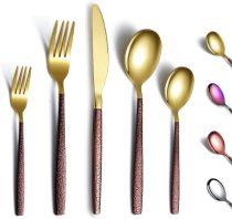 30 Pieces Shiny Gold Mouth with Moon Surface Handle, service for 6