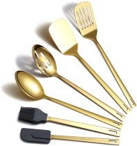 6 Packs Gold Stainless Steel Nonstick Kitchen Tool Set