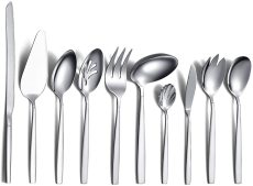 10 Pieces Silver Utensil Stainless Steel Serving Cutlery Set