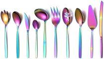 10 Pieces Rainbow Cutlery Serving Set