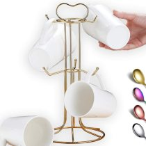 Gold Stainless Steel Coffee Cup Holder