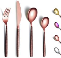 24 Pieces Modern Copper Stainless Steel Cutlery Set Tool Set for 6