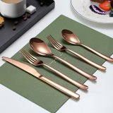 20-Piece Stainless Steel Copper Flatware Set(Rose Gold)