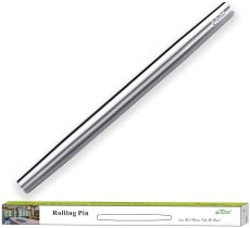 Silver Stainless Steel Rolling Pin,Matte Finish 16.7 Inches