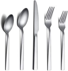 20 Piece Matte Cutlery Set, Stainless Steel Flatware Set, Service For 4