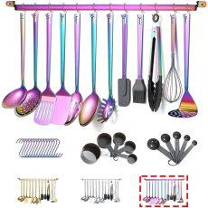 Cooking Utensils Set, 37 Pieces Stainless Steel Kitchen Utensil