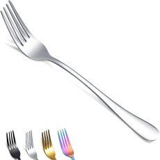 Dinner Forks Set of 6, Stainless Steel Shiny Mirror Fork Set