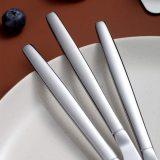 Silver Dinner Knives Set Of 6, Stainless Steel Shiny Mirror Dinner Knife