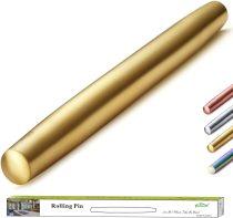 Stainless Steel Gold Titanium Plating Rolling Pin Matte Finish