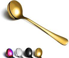 Soup Spoon of 6, Berglander 7.5  Stainless Steel Soup Spoons Silverware