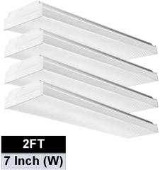 AntLux 2FT LED Wraparound Flush Mount LED Garage Lights, 20W 2400LM, 4000K Neutral White, 2 Foot LED Wrap Light, Integrated Linear Ceiling Lighting Fixture for Kitchen, Laundry, Workshop, Closet, 4 Pack