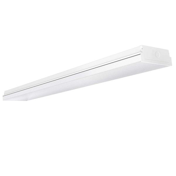 AntLux 4FT LED Wraparound Light 40W LED Garage Shop Lights, 40W 4400LM, 4000K, 4 Foot Wrap Around Fixture, 48 Inch Linear Strip Flush Mount Office Ceiling Lighting, 128W Fluorescent Tube Replacement