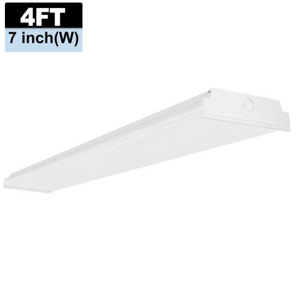 AntLux 4ft LED Garage Shop Lights, LED Wraparound Light Fixture 50W, 5500 Lumens, 4000K Neutral White, 4 Foot Integrated Low Profile Linear Flushmount Ceiling Lighting, 128W Fluorescent Replacement