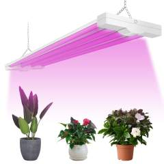ANTLUX 4ft LED Grow Light 80W (600W Equivalent) Full Spectrum Integrated Growing Lamp Fixture for Greenhouse Hydroponic Indoor Plant Seedling Veg and Flower, Plug in with on/Off Switch