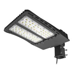 AntLux LED Parking Lot Lights 150W Shoebox Pole Light Outdoor, 18600lm, 5000K, IP66, 600W MH/HPS Replacement, Slipfitter Mount, Area Street Court Shoe Box Security Lighting Fixture, Photocell Included